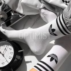جوراب ساقدار آپتیمیست طرح آدیداس سفید