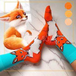 جوراب ساقدار آپتیمیست طرح روباه