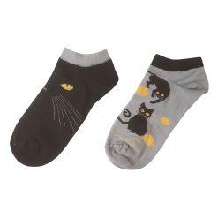 جوراب مچی ال سوان طرح گربه لنگه به لنگه