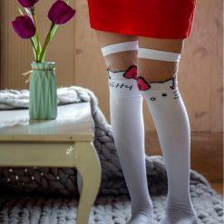 جوراب ساق بلند بالای زانو ال سوان طرح کیتی