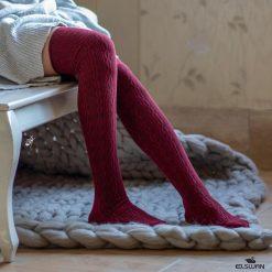 جوراب ساق بلند بالای زانو السوان طرح بافت رزشکی