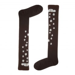 جوراب ساق بلند بالای زانو السوان طرح باران با ساق 65 سانتی