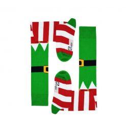 جوراب ساق بلند بالای زانو پاتریس طرح کریسمس