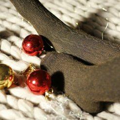 جوراب ساق بلند بالای زانو السوان طرح بافت قهوه ای شاین