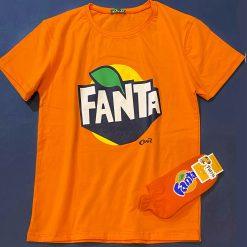 تیشرت فری سایز زنانه آستین کوتاه فانتا Fanta