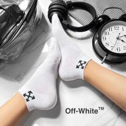 جوراب مچی آپتیمیست طرح آف وایت سفید